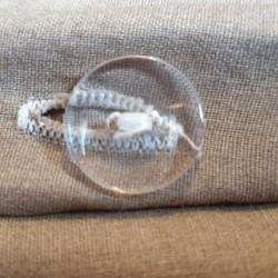 Parure de lit moutarde coton bouton transparent