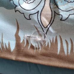 Bouton parure de lit queen size bleu transparent