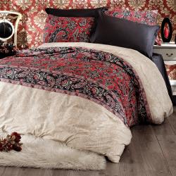 Parure de lit rouge