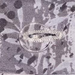 Parure de lit grise et rose coton bouton transparent