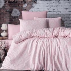 Parure de lit rose 100% coton