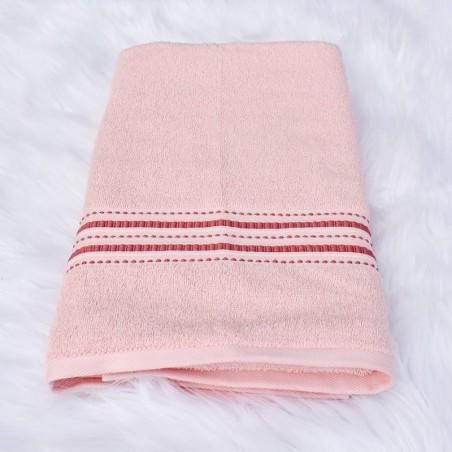 Drap de bain Reneta rose 70 x 150 cm 100% coton