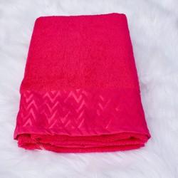 Drap de bain Vera rouge 100% coton