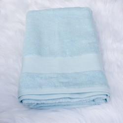 Drap de bain Bleuenn bleu ciel 70 x 140 cm 100% coton