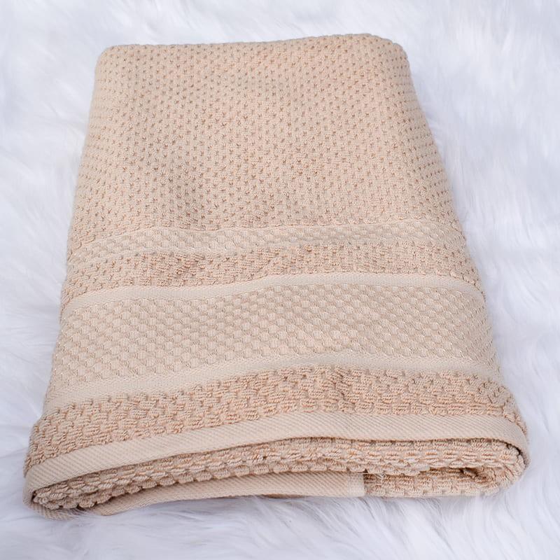 Drap de bain Devon beige 70 x 140 cm 100% coton