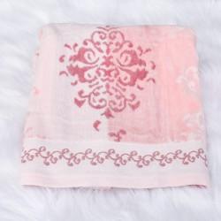 Serviette de bain Emily rose poudré 50 x 90 cm 100% coton