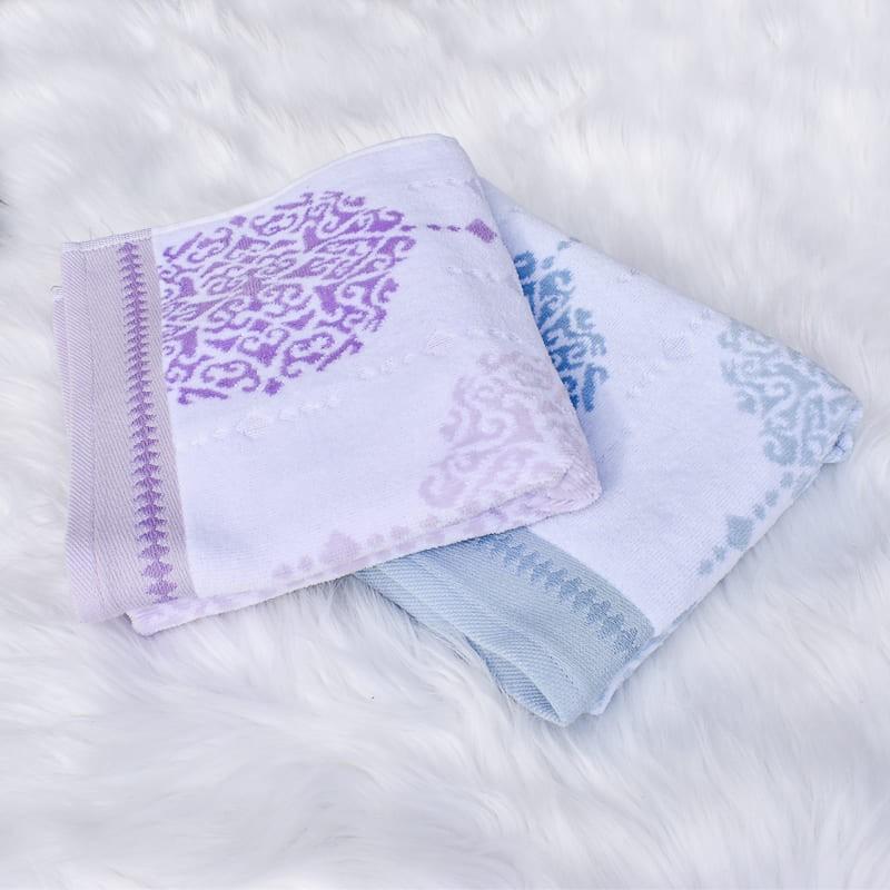 Serviette de bain Greta motif 50 x 90 cm 100% coton