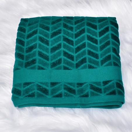 Serviette de bain Jade vert foncé 50 x 90 cm 100% coton velours