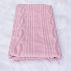 Drap de bain Lavinia rose 70 x 150 cm 100% coton velours