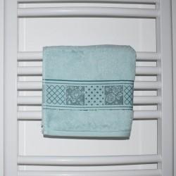 Serviette de bain Marla menthe 50 x 90 cm coton