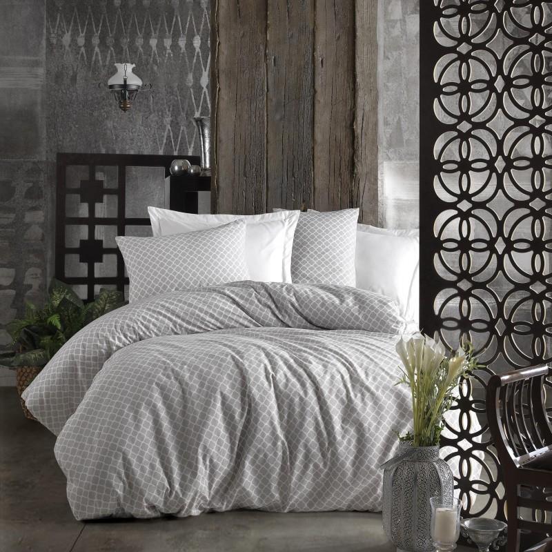 Parure de lit grise