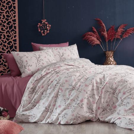 Parure de lit lila et rose clair