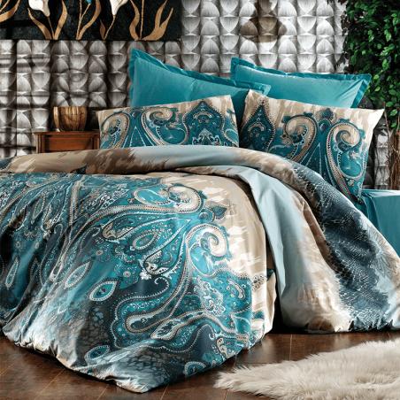 Parure de lit queen size bleu